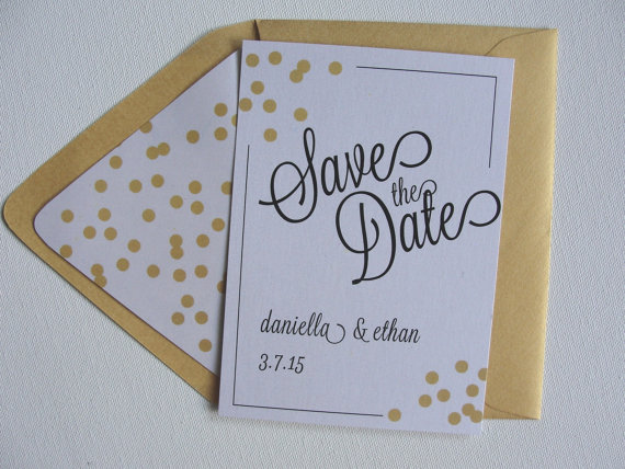 birthday party invitation envelopes ; save-the-date-cards-shimmer-confetti-lined-envelopes-custom-bachelorette-birthday-party-invitation-black-gold-white-bronze