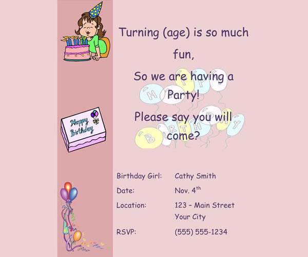 birthday party invitation mail ; Birthday-party-invitation-for-little-girls