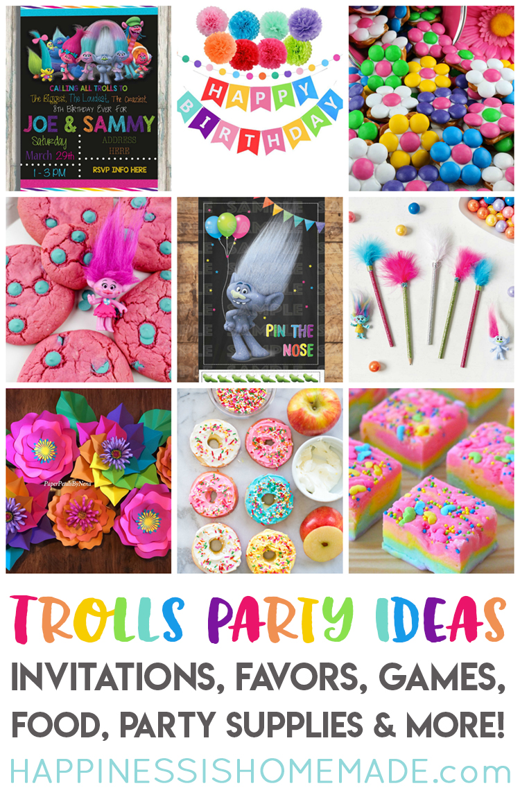 birthday party photo ideas ; Trolls-Party-Ideas