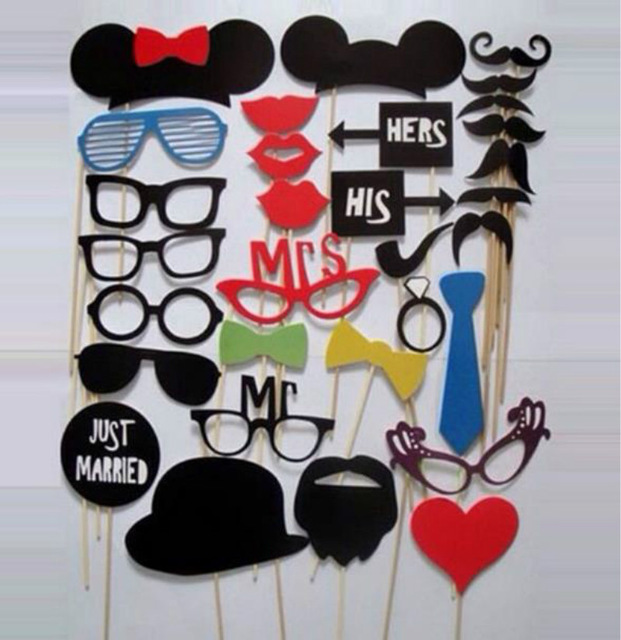 birthday party photo props ; 31Pcs-Set-Paper-Bearded-Lips-Welcome-Party-Props-Funny-Fun-Birthday-Party-Decorations-Kids