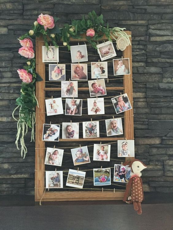 birthday party picture display ; 200311f360f5e5cc4a47c1de9cf26991