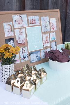 birthday party picture display ; 32f62b338037e2313e26356d659bf357--first-birthday-picture-display-display-photos