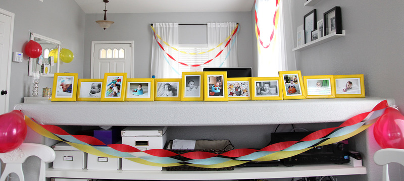 birthday party picture display ; 4740
