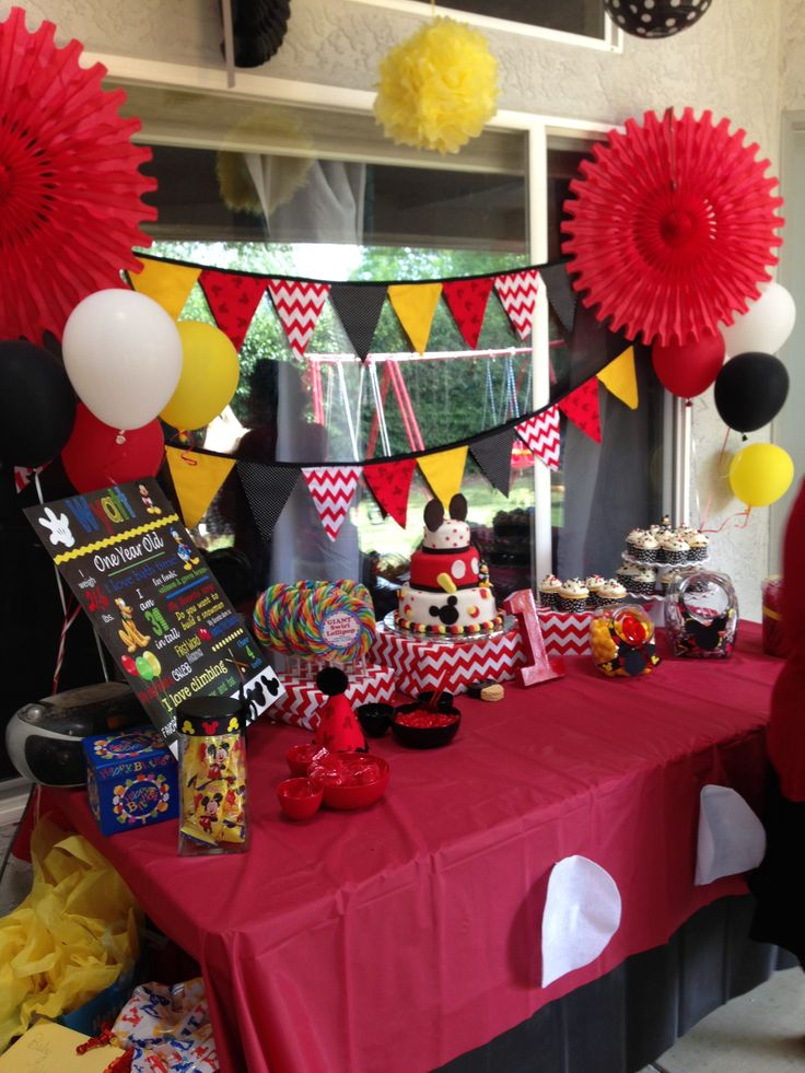 birthday party picture display ; 8612f0b98c62dd4176398d6f25432981--mickey-mouse-birthday-mickey-party