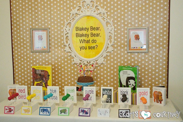 birthday party picture display ; Brownbear4-620x413