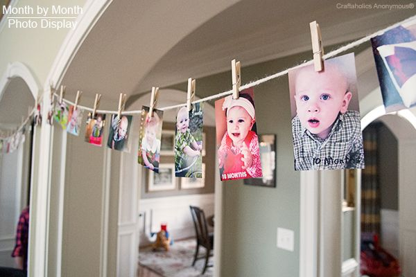 birthday party picture display ; birthday-photo-display5