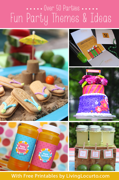 birthday party themes ; Party-Ideas-LivingLocurto