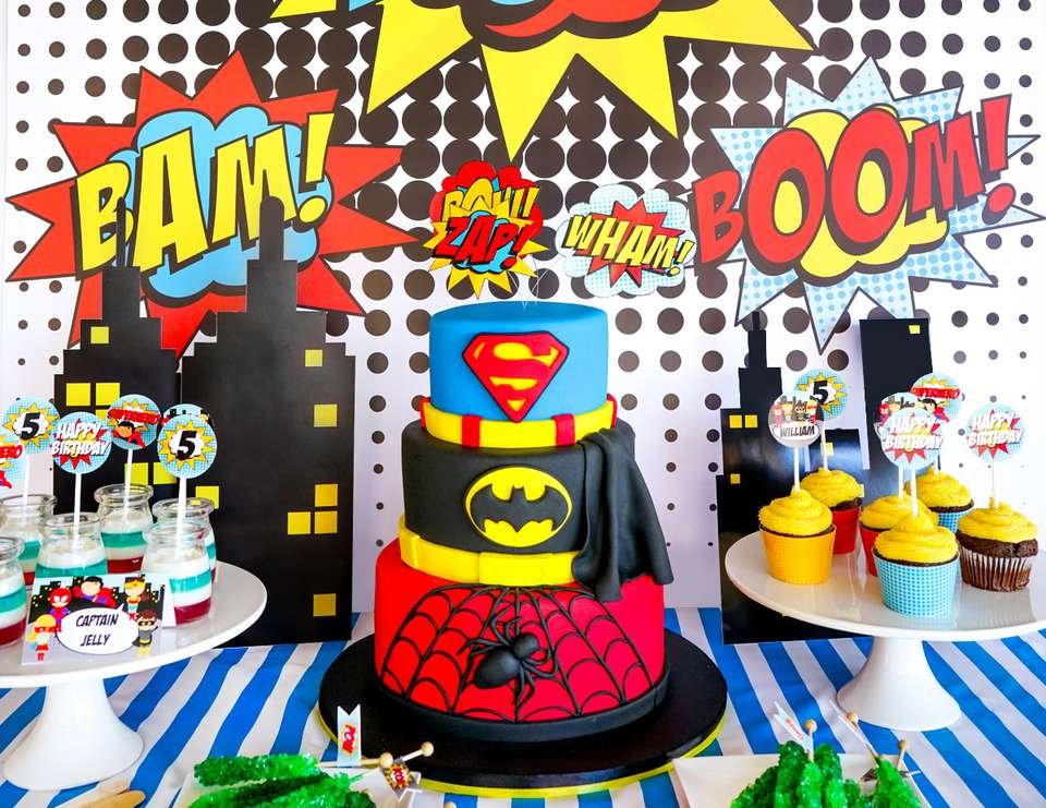 birthday party themes ; best-birthday-party-themes-kids-superhero