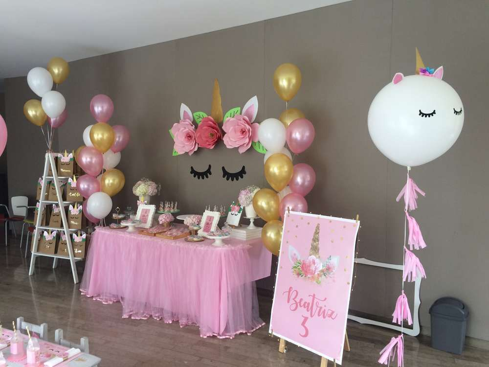 birthday party themes ; best-birthday-party-themes-kids-unicorn