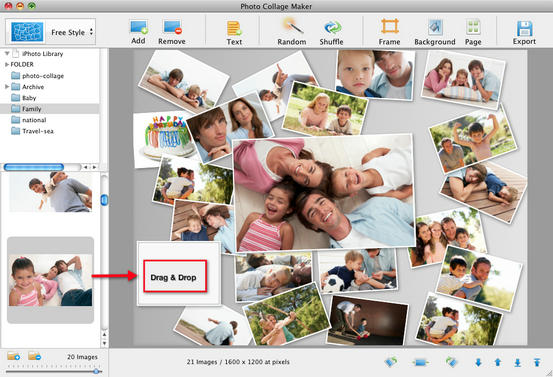birthday photo collage maker ; drap-drop-photo-collage-mac