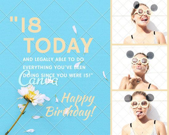 birthday picture captions for instagram ; canva-18th-birthday-photo-collage-MAB0EpEMx_8