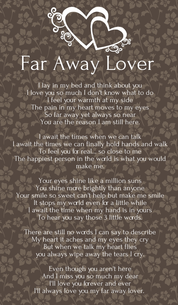 birthday poem for boyfriend far away ; be5318a83a3170c4a1361145714ba693