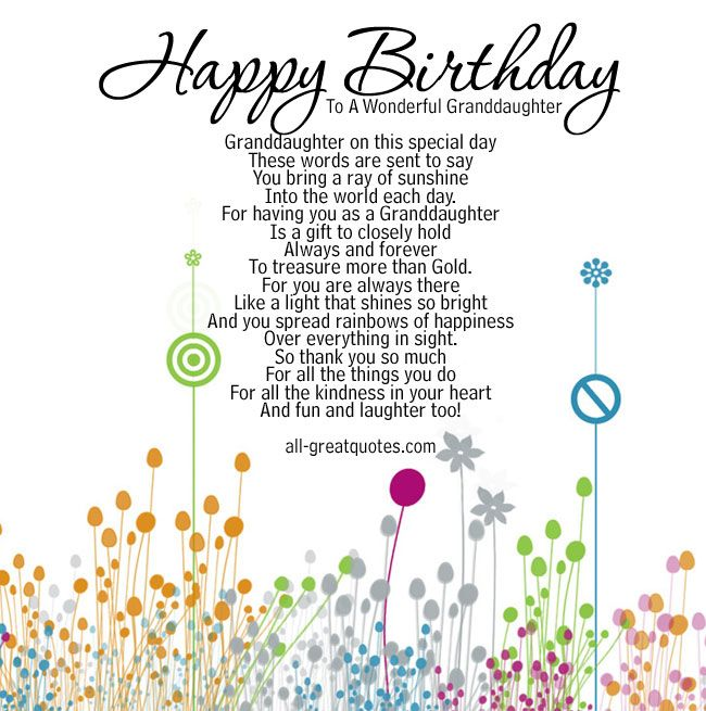 birthday poem for granddaughter free ; a822bf4e29321031fcba26d0b0615ae5--card-birthday-birthday-board