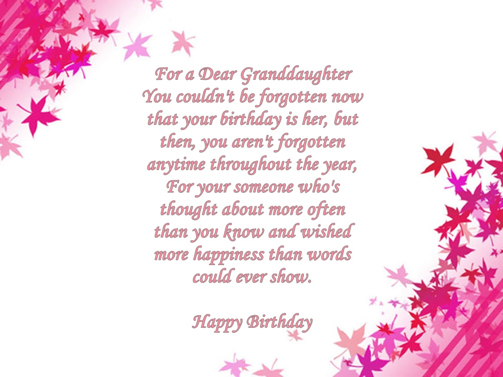 birthday poem for granddaughter free ; for-a-dear_1_orig517