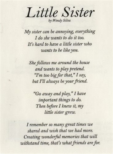 birthday poem for little brother ; 45e8fdbd93c8154b70953ce696513818--sister-poems-sister-quotes