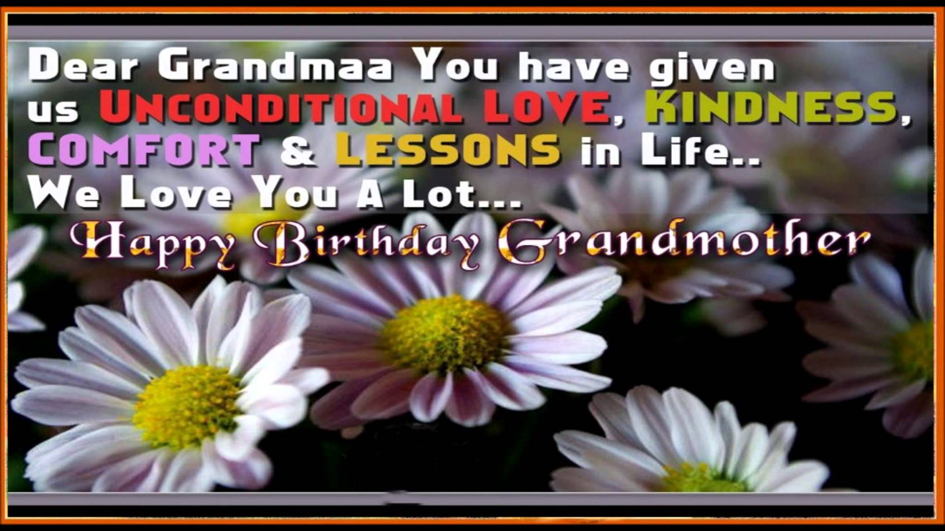 birthday poem for my grandmother ; maxresdefault