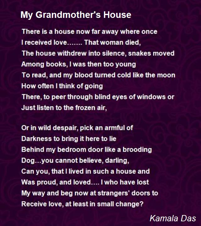 birthday poem for my grandmother ; my-grandmother-s-house