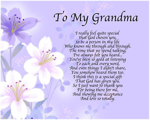 birthday poem for my grandmother ; s-l300