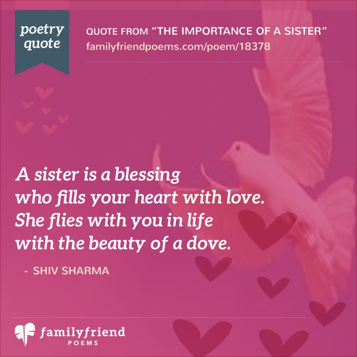 birthday poem for my sister ; a-sister-is-a-blessing