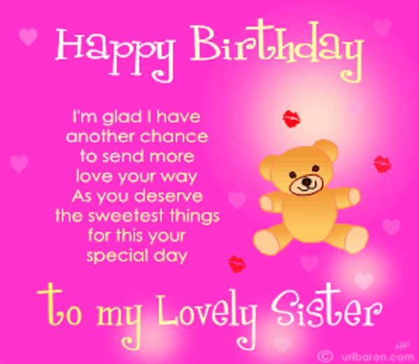 birthday poem for my sister ; happy-birthday-poems-for-sister