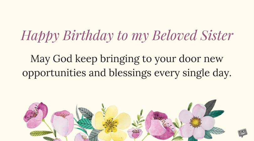 birthday prayer message for a sister ; Birthday-Prayer-for-Sister-on-card-with-flowers
