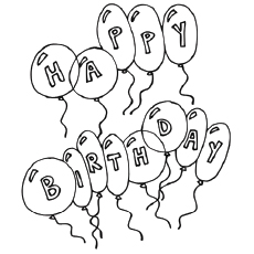 birthday printables to color ; Birthday-Balloons1