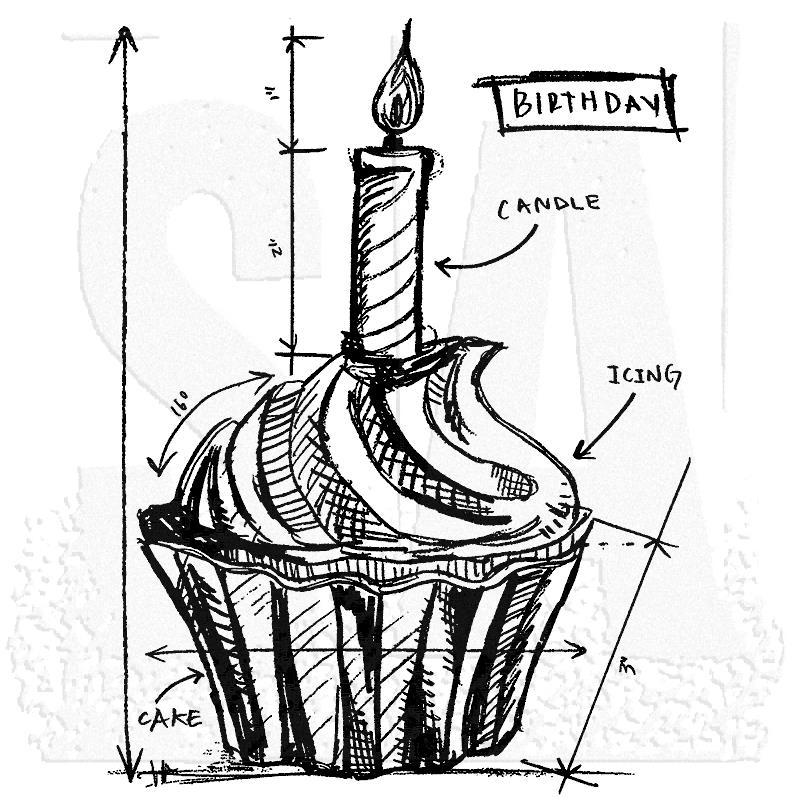 birthday sketch images ; tim-holtz-p1-2094-birthday-sketch