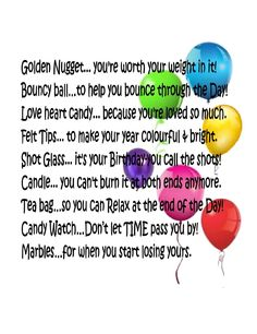 birthday survival kit poem ; 7f7d14641b1196015632617869b87883--special-birthday-th-birthday