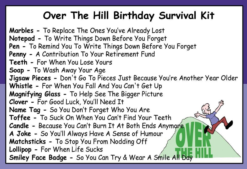 birthday survival kit poem ; daf7803077fb49dc7c14e5f9e486b084