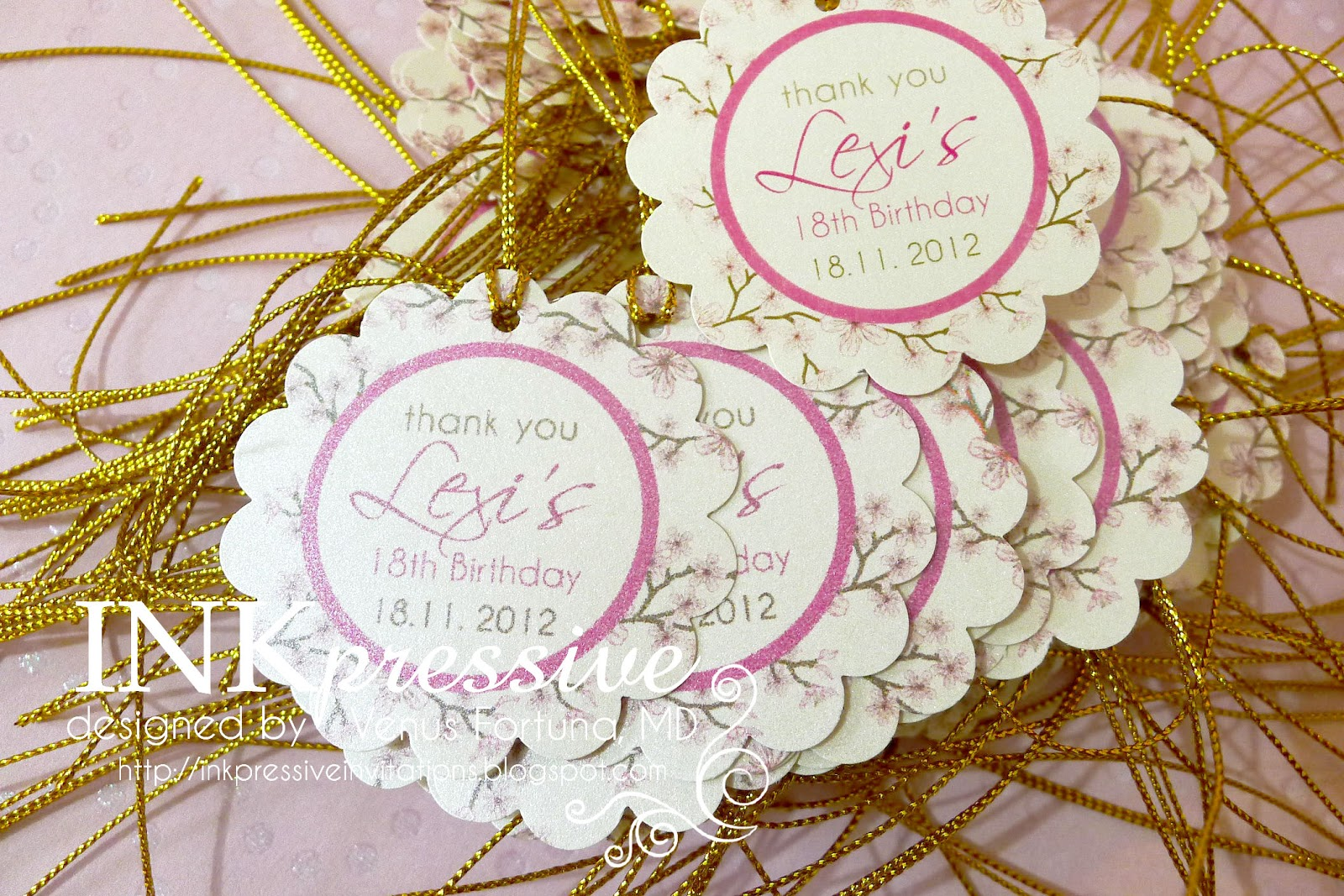 birthday tags for souvenirs ; asian5