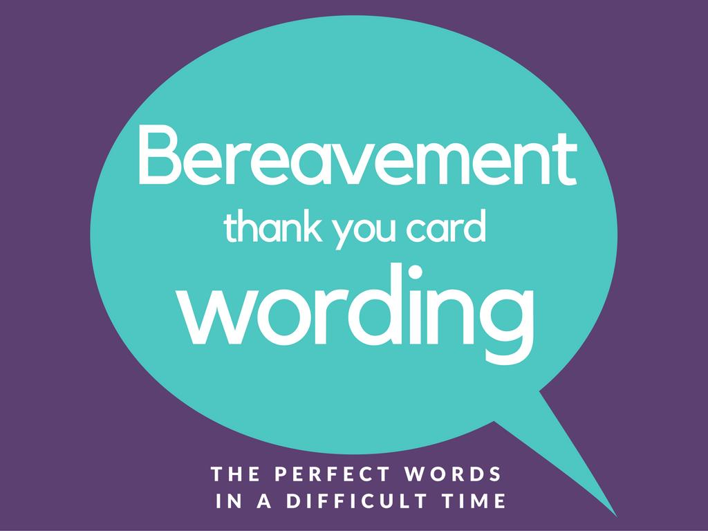 birthday thank you card wording samples ; Bereavement-and-Sympathy-Thank-You-Card