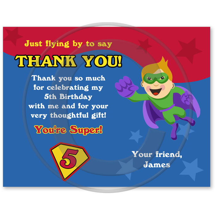 birthday thank you card wording samples ; Super_Hero_Thank_You_Cards_Dtl