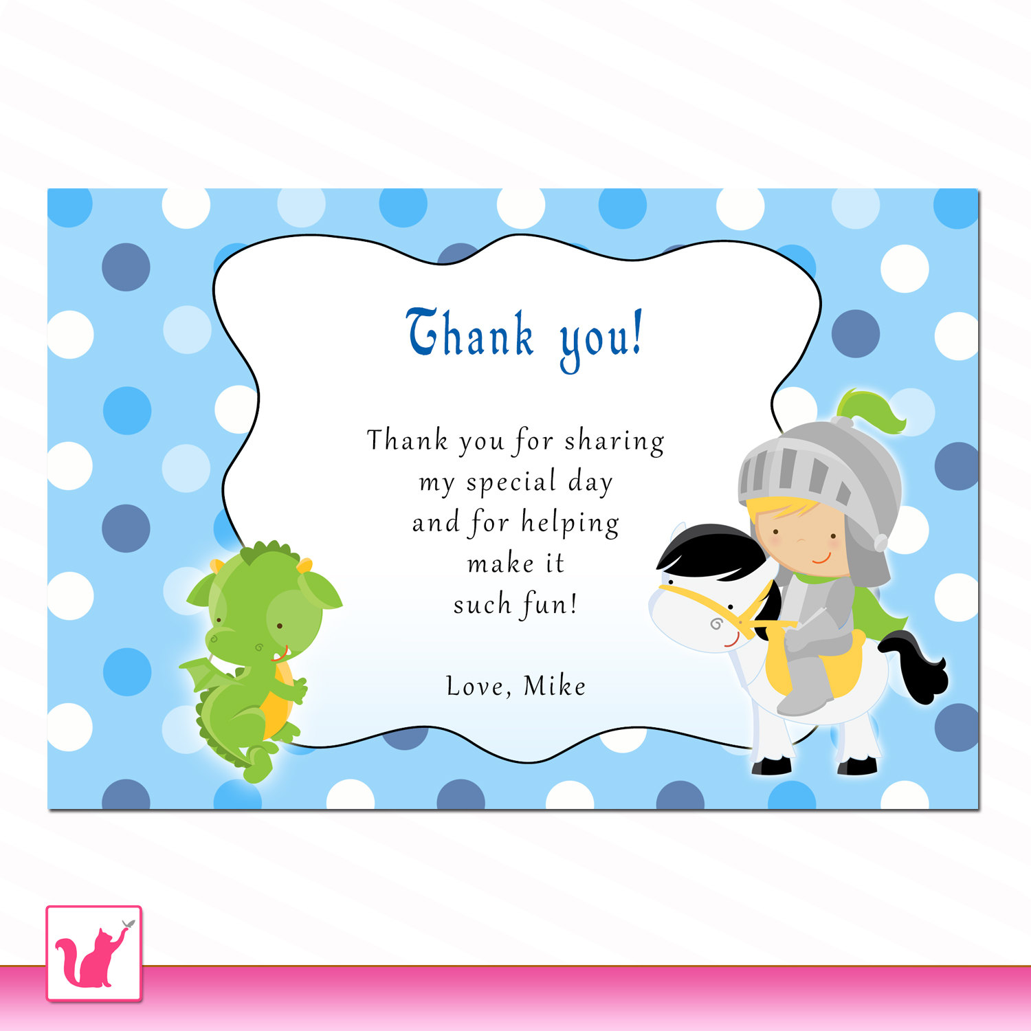 birthday thank you card wording samples ; fairy-tale-kids-photo-thank-you-cards-concept-design-various-legendary-animal-picture-cartoon-astonishing-dragon