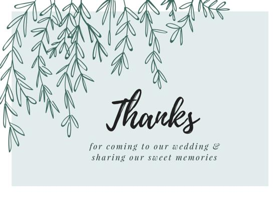 birthday thank you card wording samples ; for-coming-to-our-wedding