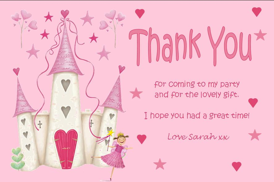 birthday thank you card wording samples ; personalised-fairy-theme-thank-you-cards-522-p