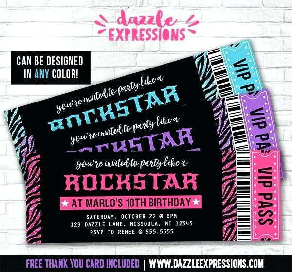 birthday ticket invitation template free ; ticket-birthday-invitations-glitter-zebra-ticket-invitations-free-thank-you-card-included-concert-ticket-birthday-invitations-template