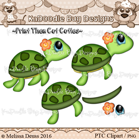 birthday turtle clip art ; PTCSeaTurtle