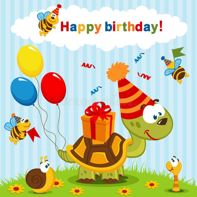 birthday turtle clip art ; birthday-turtle-celebration-vector-illustration-34122763
