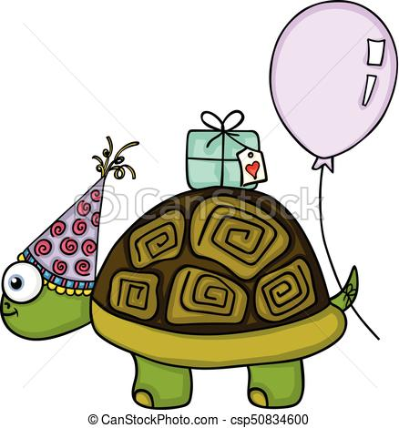 birthday turtle clip art ; birthday-turtle-with-balloon-and-gift-vector-clipart_csp50834600