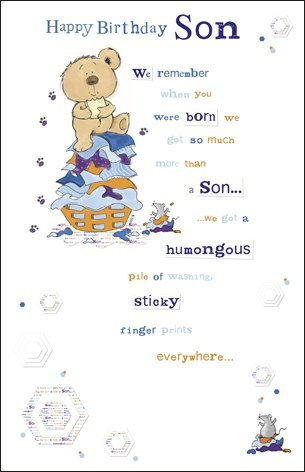 birthday verses for son ; Forget-Me-Not-Son-Birthday-Card-Bear-Verse-10-x-65-Code-226473-1-0