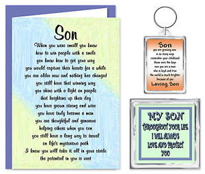 birthday verses for son ; s-l300