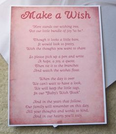 birthday wish tree wording ; 46a1d6b3a99b4eafb01eab045962e937--book-baby-showers-baby-shower-wishes