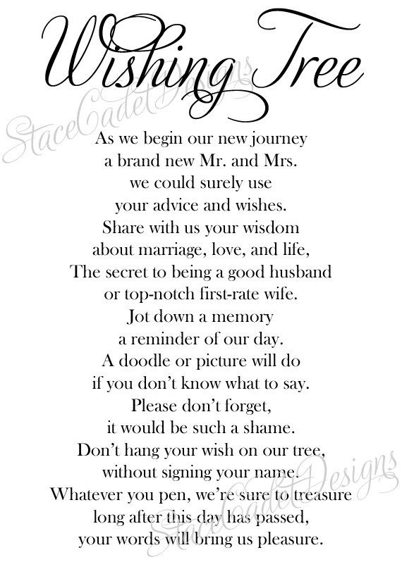 birthday wish tree wording ; 67806b6bfc544544cc45962c5073d842--wishing-tree-wedding-wedding-trees