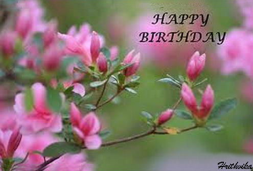 birthday wish with flower images ; 309124