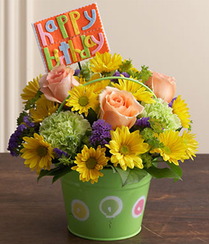 birthday wish with flower images ; BN17369