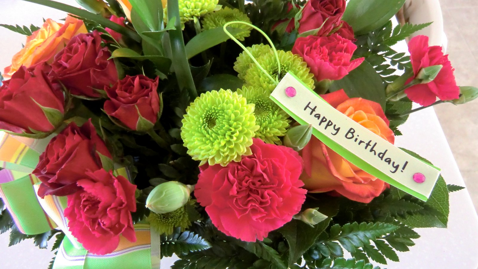 birthday wish with flower images ; CIMG7724