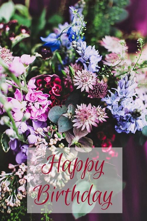 birthday wish with flower images ; Happy-Birthday-wish-on-image-of-many-colorful-flowers