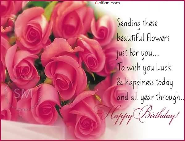 birthday wish with flower images ; birthday-wishes-flower-pictures