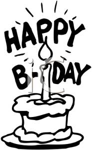 black and white birthday clip art free ; Black_and_White_Happy_Birthday_Cake_Royalty_Free_Clipart_Picture_091107-133059-074009