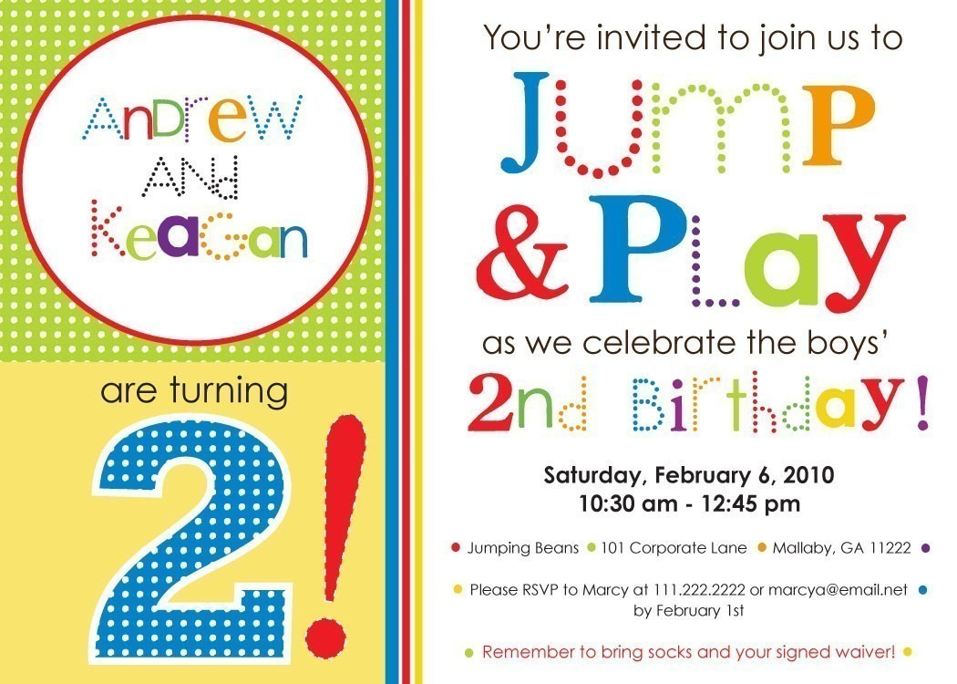 bounce birthday invitation wording ; 1000_images_about_party_ideas_2